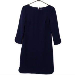 Vince Camuto blue dress with gold detail